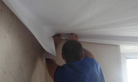 Потолок натяжной тканевый своими руками - Theform1.ru