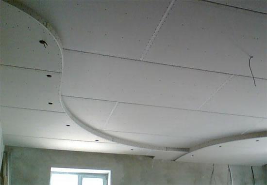 Подвесные потолки своими руками для кухни из гипсокартона фото