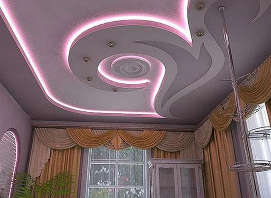 Рисунки потолков из гипсокартона фото